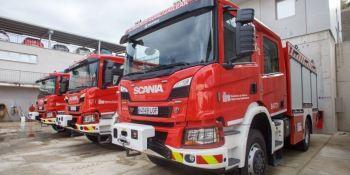 tres, nuevas, autobombas, Scania, bomberos, Navarra,