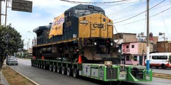 Dachser transportó locomotoras desde Houston a Perú