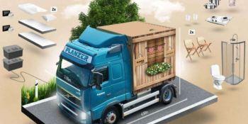 Construyen el primer motel móvil sobre un camión.