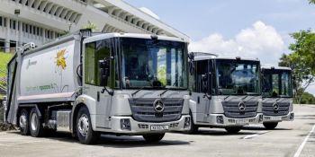 Mercedes-Benz Econic ayuda con el reciclaje en Singapur.