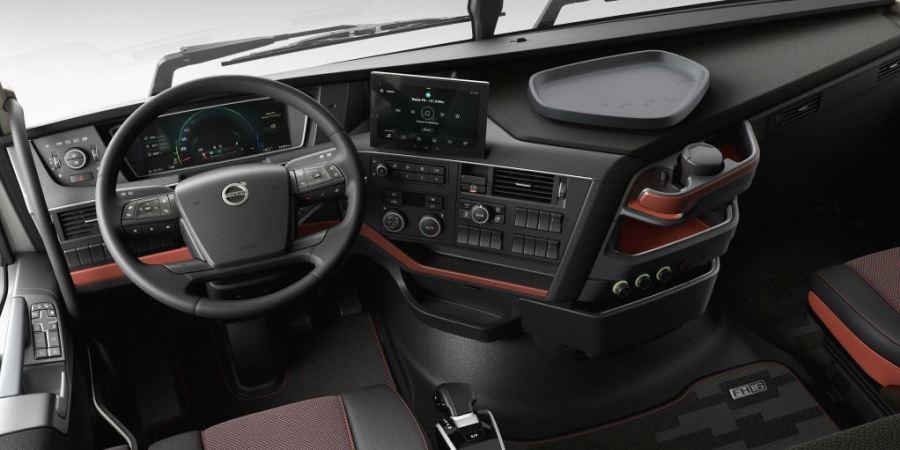El interior de la cabina del Volvo FH actualizado: Pensando en el conductor