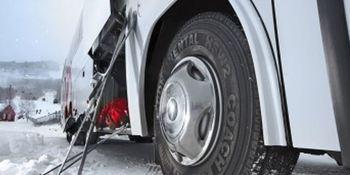 Obligatorios los neumáticos de invierno en la dirección para camiones, furgonetas y autobuses en Alemania