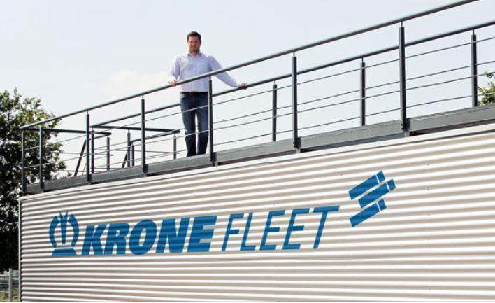 Krone Fleet Alemania instala una plataforma para limpieza en los techos de los trailers