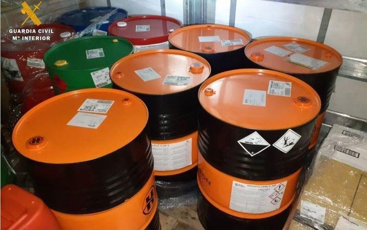 La Guardia Civil detecta infracciones muy graves en el transporte de mercancías peligrosas