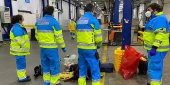 Fallece un trabajador aplastado por un montacargas en una empresa de logística en Alcalá de Henares