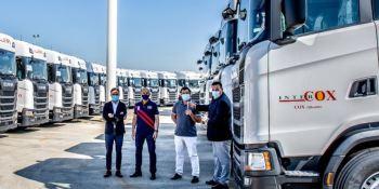 Intercox vuelve a confiar en Scania con 60 nuevas tractoras 450 S