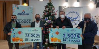 Andamur hace entrega de 50.000 € a los Bancos de Alimentos de Almería y del Segura