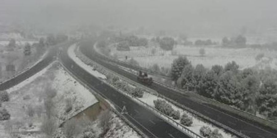Carreteras afectadas para camiones por nieve en la Comunidad valenciana, Castilla la Mancha y Madrid