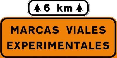 Nuevas marcas viales experimentales en varios tramos de carreteras