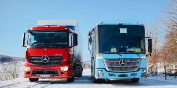 Pruebas de invierno de los Mercedes-Benz: eActros y eEconic