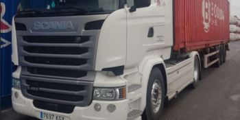 ¡Alerta!. Camión robado, marca Scania R-450 blanco, matrícula 7697-KGX