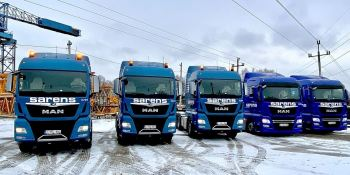 La empresa de transportes especiales Sarens incorpora a su flota 5 camiones MAN