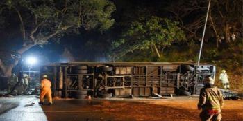 11 muertos y 19 heridos en el accidente entre un camión y un autobús en China