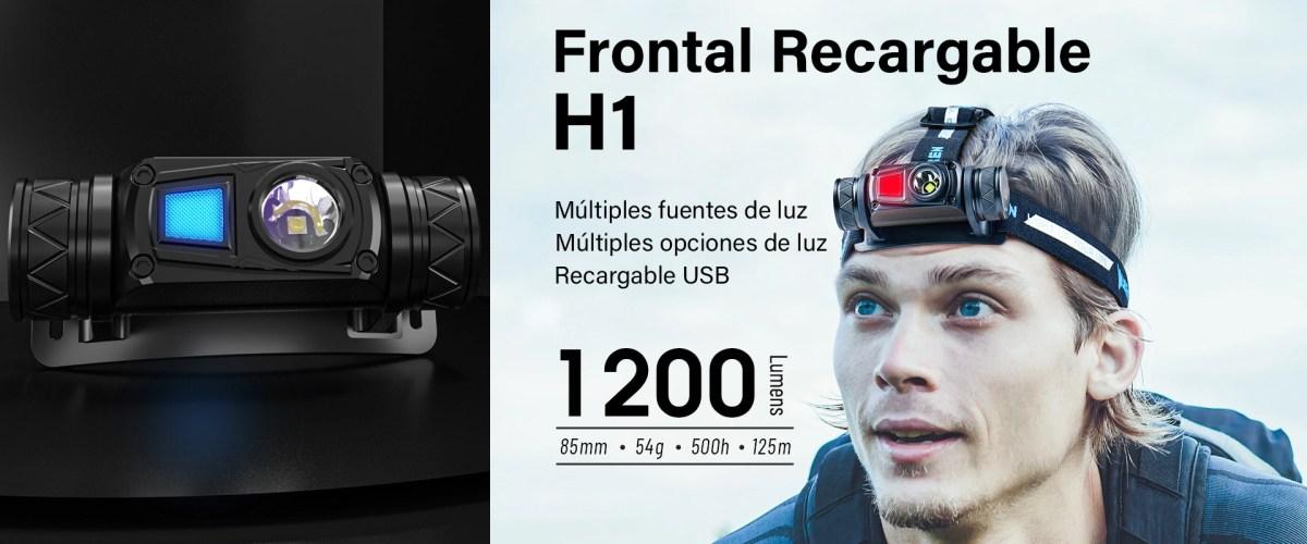 Frontal WUBEN H1 LED 1200 lúmenes. Perfecto para las esperas de jabalí