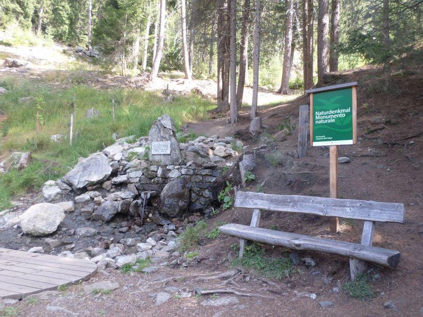 la sorgente dell'Adige è un monumento naturale