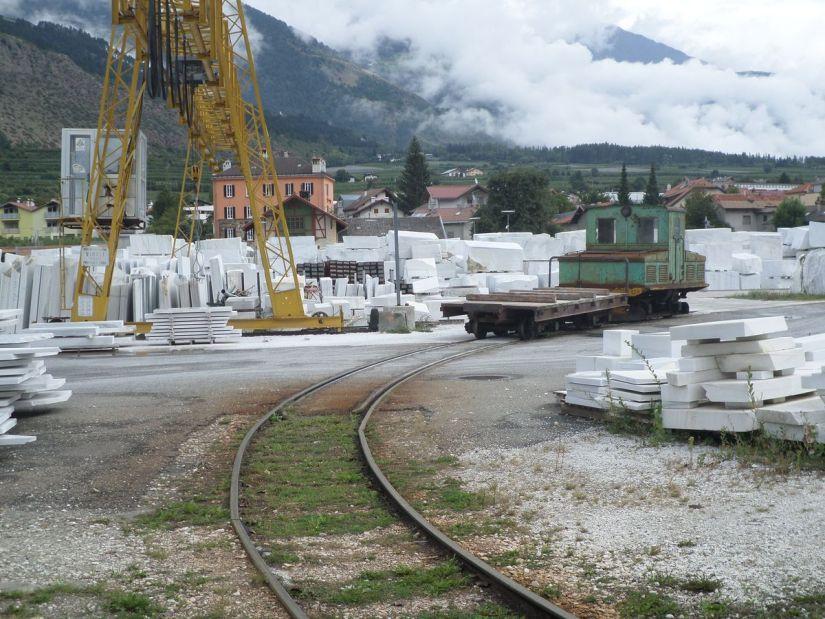 piazzale dell'industria del marmo