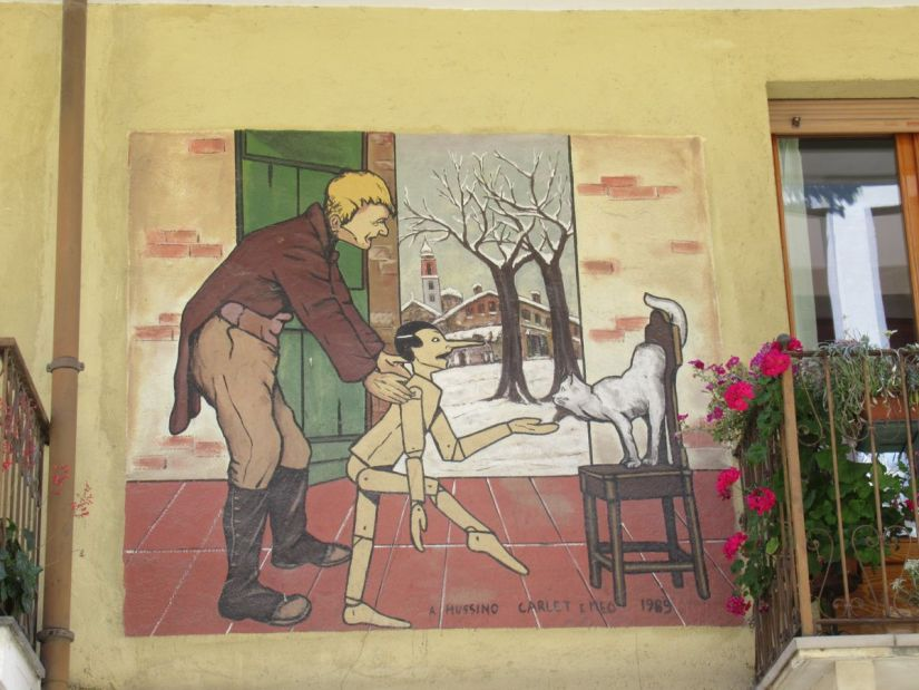 murales di Pinocchio a Vernante
