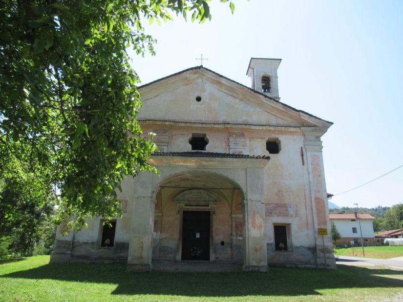 chiesa campestre di Sant'Anna, da qui si parte per Flamulasca