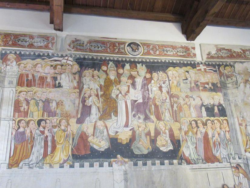 Gerusalemme celeste affrescata nella chiesa di San Fiorenzo
