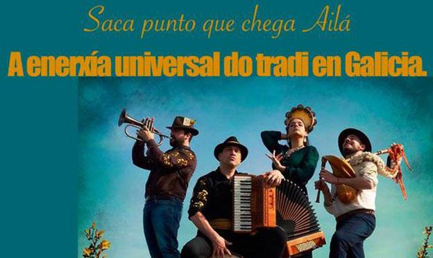 El baile y la música, protagonistas del primer disco del cuarteto gallego Ailá