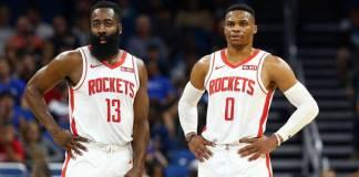 James Harden y Russell Westbrook, los más activos de Houston Rockets.
