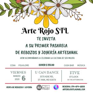 Arte Rojo STL •Pasarela •Evento