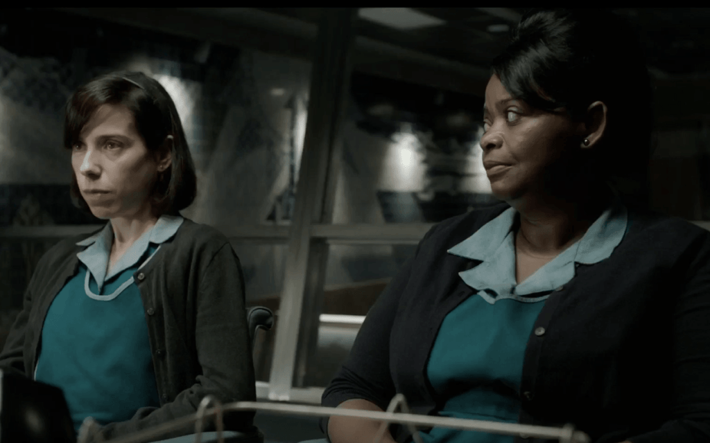 The Shape of Water, Sally Hawkins e Octavia Spencer sul set