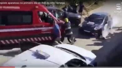 Photo of Vídeo captou despiste no Rali do Alto Tâmega que causou três feridos