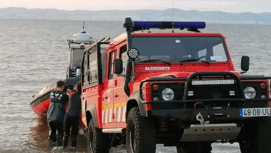 Photo of Bombeiros de Alcochete resgataram praticante de Kitesurf