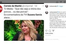 Photo of Comentário de Fernando Rocha a Suzana Garcia mal aceite pelos fãs