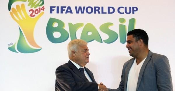 Com o padrinho Ricardo Teixeira