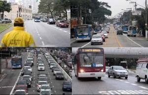 faixas de ônibus