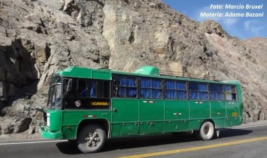 Ainda para América Latina, o Caio Gabriela também foi adaptado em chassi Scania B111, como este exemplar, no Peru.