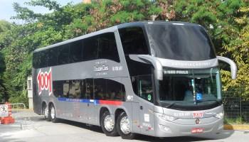 Ônibus Scania: Dois chassis para homologação de novos modelos na Busscar; crescimento de 10% para rodoviários e GNV com 28% de redução de custo operacional