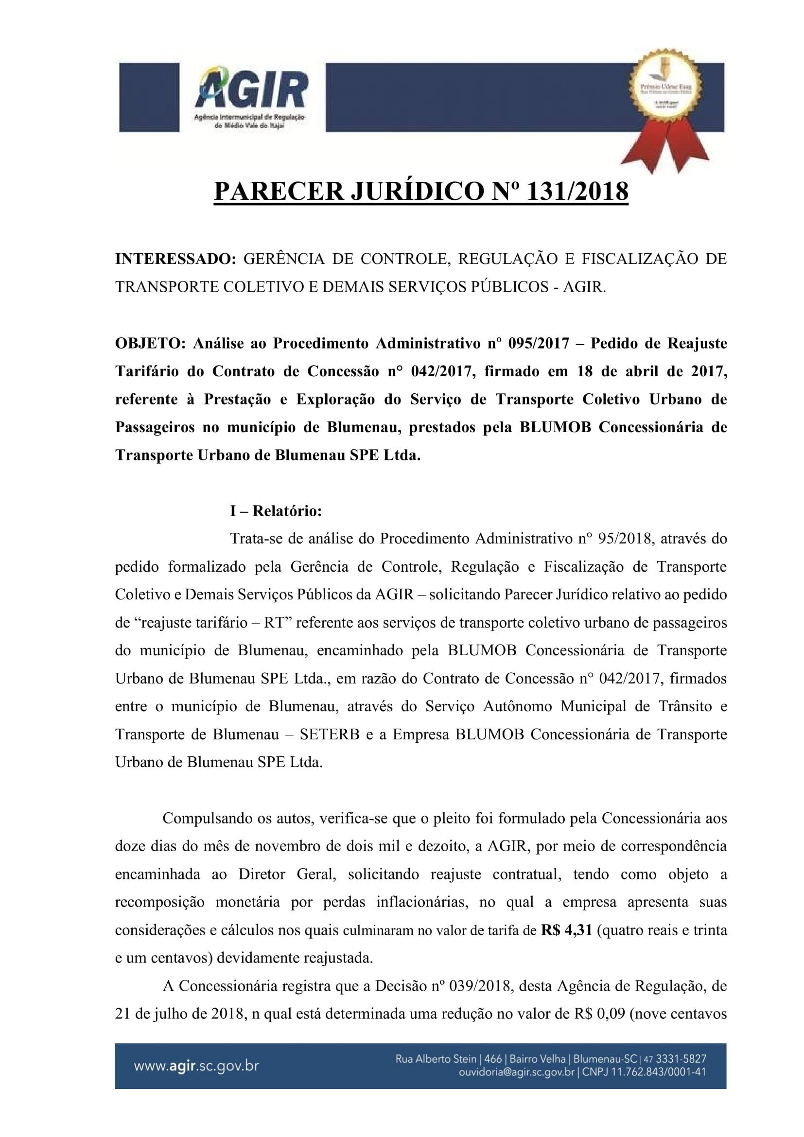 Parecer Juridico 131-2018_Reajuste Tarifário Blumob-01