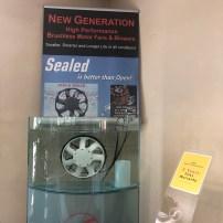 Eletroventilador selado, sem escovas, com garantia de cinco anos de funcionamento