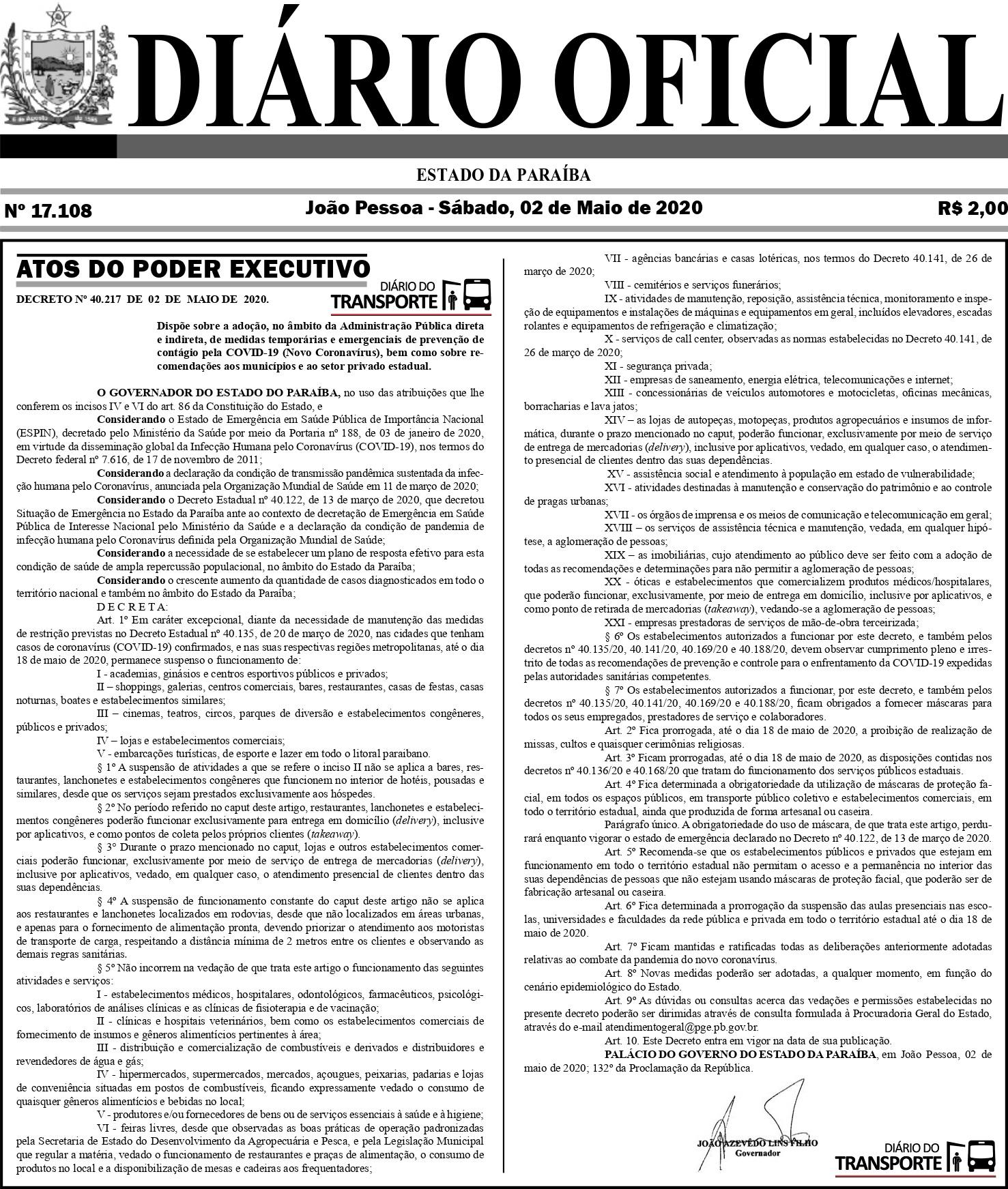 diario-oficial-Paraíba