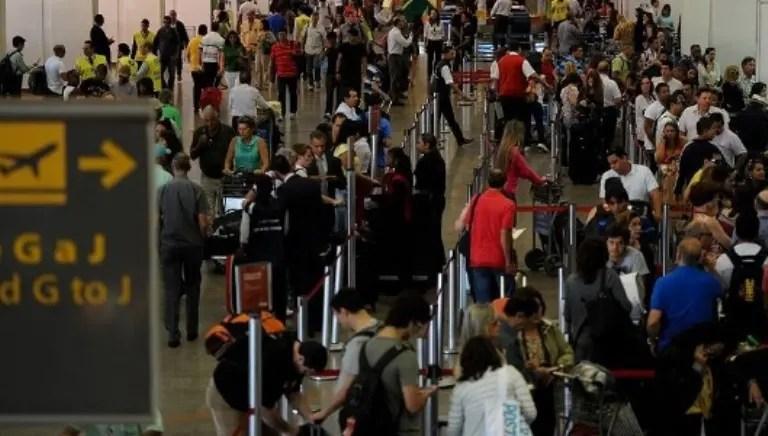 Movimento nos aeroportos durante carnaval foi maior que na Copa do Mundo