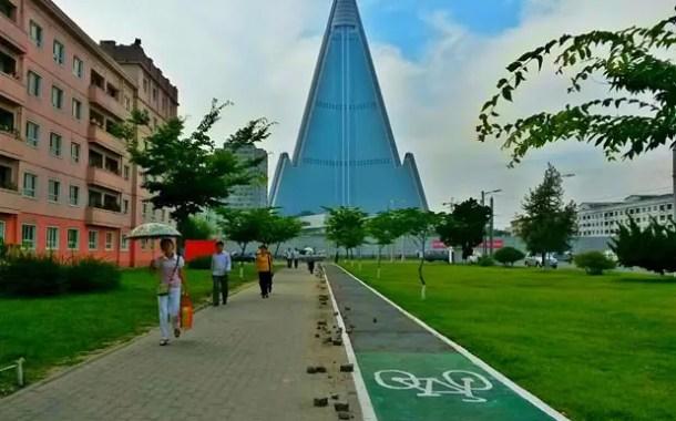 Coreia do Norte instala ciclovias em Pyongyang
