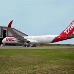TAM revela seu primeiro A350 XWB
