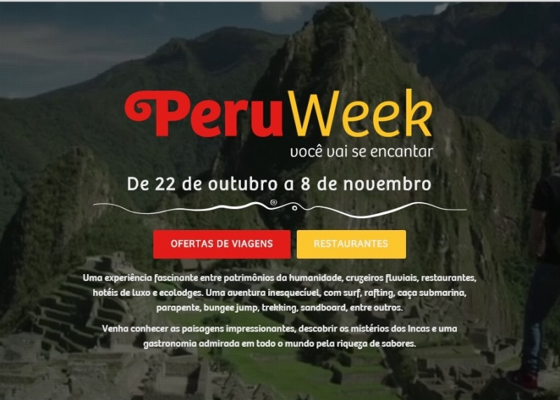 Está no ar o site da Peru Week 2015