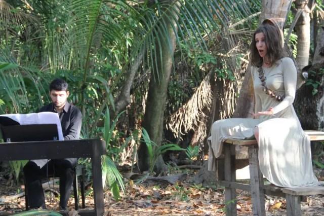 """""""Vou ficar com saudade de tudo isso aqui quando for embora"""", afirmou a soprano Gabriela Geluda"""