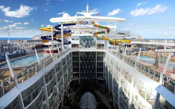 Maior cruzeiro do mundo vai ao mar pela primeira vez para testes