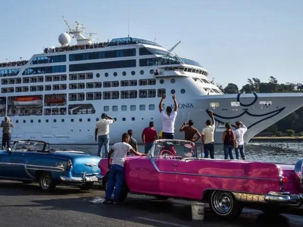 Primeiro cruzeiro dos EUA em Cuba depois de 50 anos chega a Havana