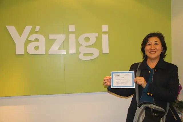 Yazigi República (SP) premia aluna com hospedagem no Tauá Resorts Atibaia