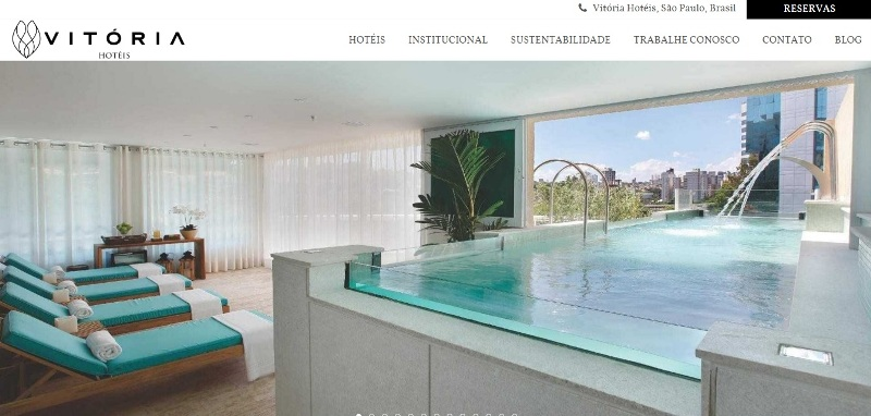 Rede de hotéis Vitória lança novo site