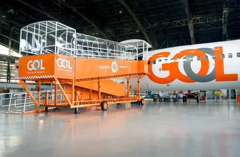 GOL inaugura rampa para embarque de clientes com deficiência e mobilidade reduzida