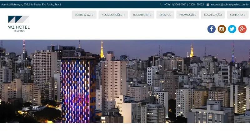 HZ Hotel Jardins lança novo site
