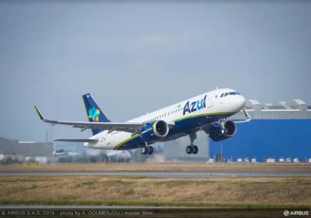 Primeiro A320neo da Azul pousa no Brasil nesta quinta-feira