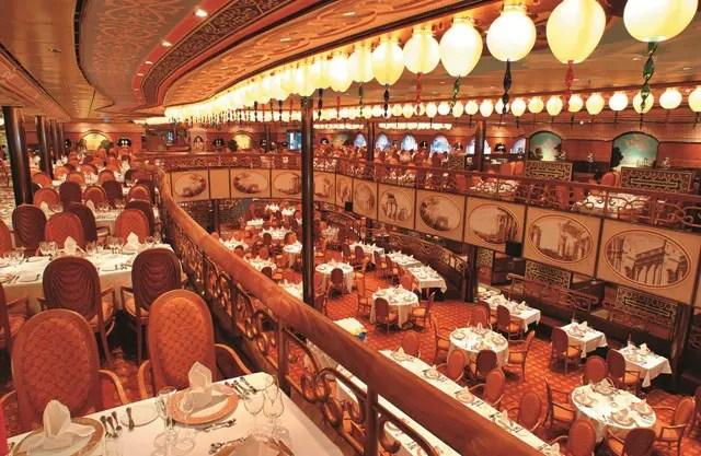 Restaurante do navio Costa Mediterranea (Foto: Divulgação)